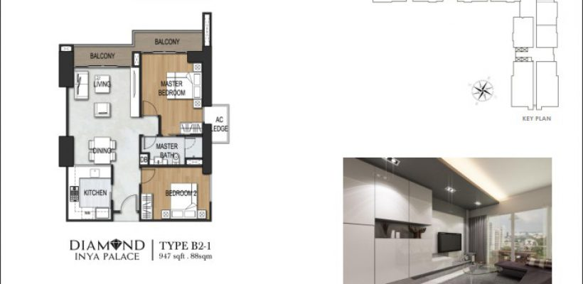 Unit Type 2 Bedroom B2-1