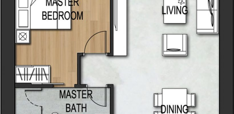 Unit Type 2 Bedroom B2-1A