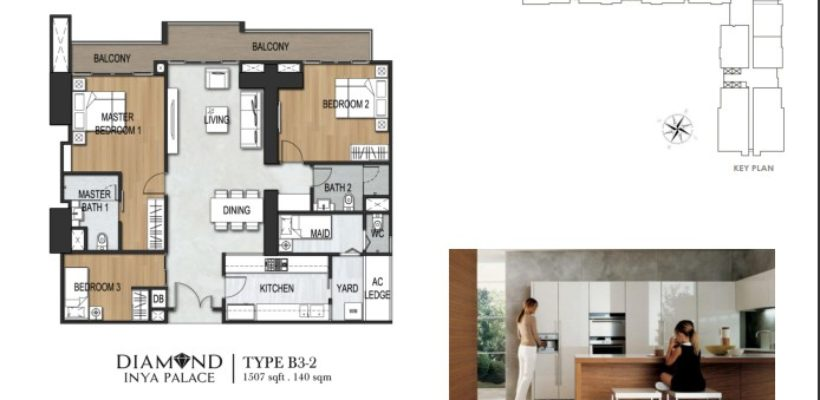Unit Type 3Bedroom B3-2