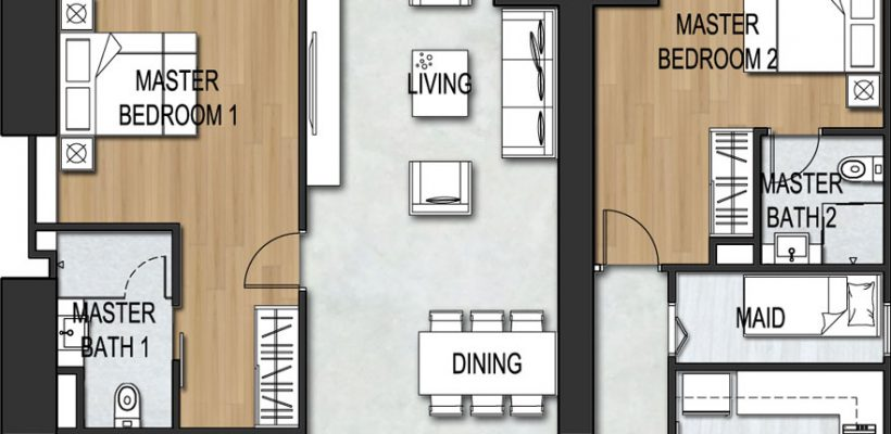 Unit Type 3Bedroom B3-2A