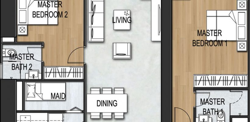 Unit Type 3Bedroom B3-3A