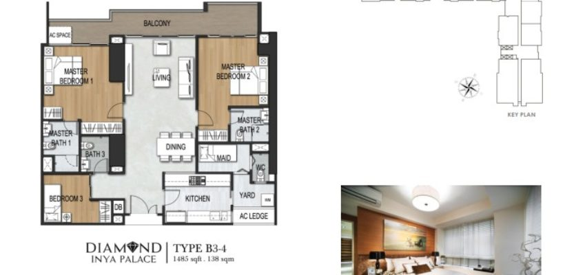 Unit Type 3Bedroom B3-4