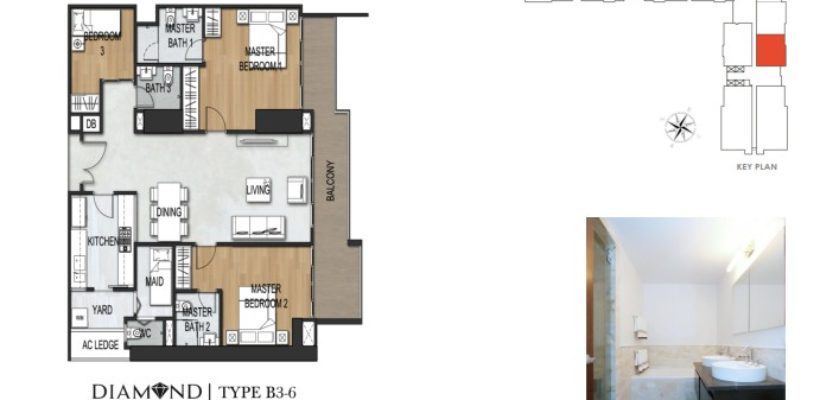 Unit Type 3Bedroom B3-6