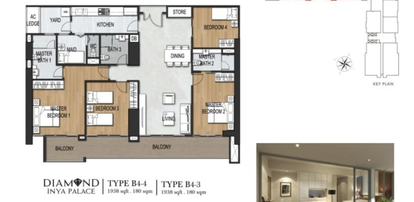 Unit Type 4 Bedroom B4-3