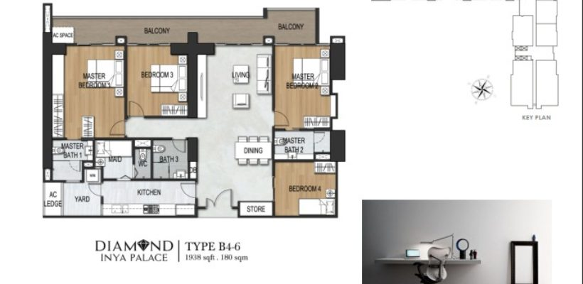 Unit Type 4 Bedroom B4-6